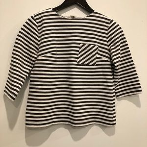 Merona b&w striped top